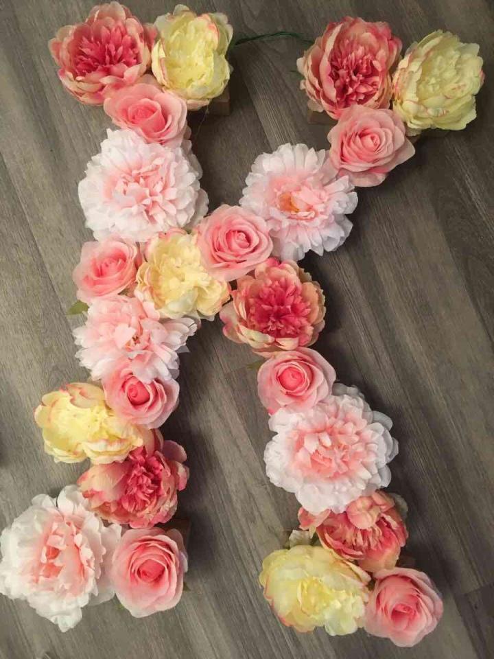Easy DIY flowerletters